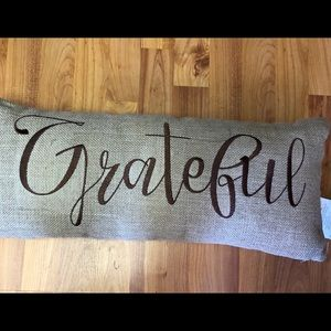 Harvest Bench Pillow Thankful, Grateful, Blessed
